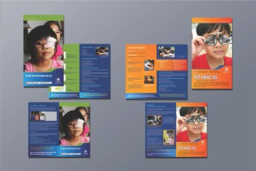 Poster, Tờ gấp - Tổ chức Orbis Quốc tế tại Việt Nam
