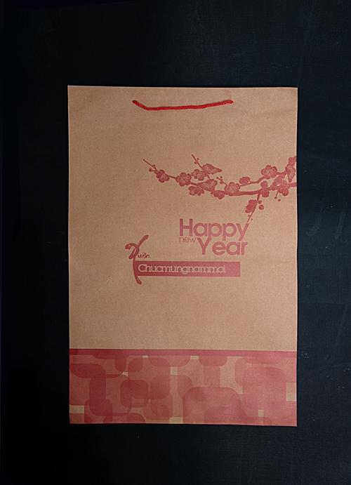 Túi lịch Tết 40x60cm, chất liệu giấy kraft, in màu